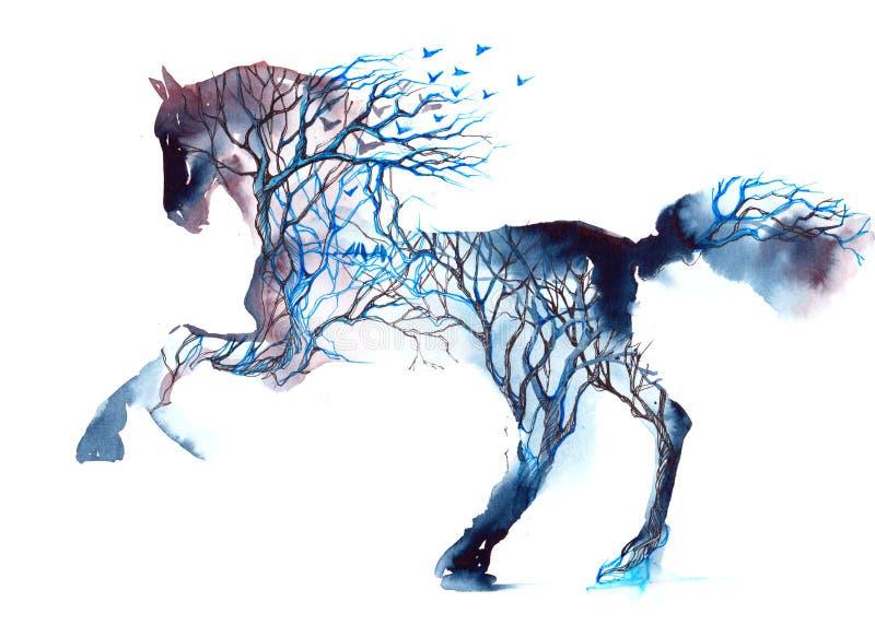 Koń royalty ilustracja