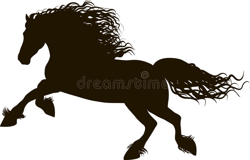 Koń biega ilustracja wektor