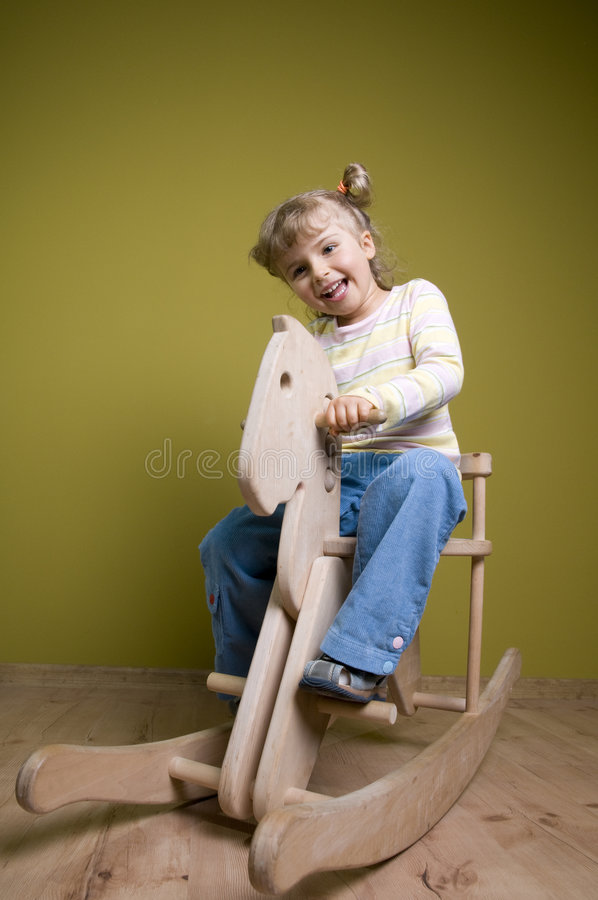 koń dziewczyny krzesła rocka zdjęcie royalty free