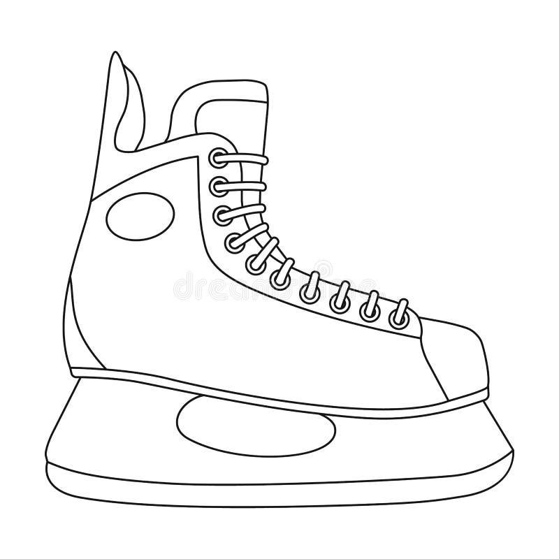Koń gracz w hokeja Krańcowego sporta pojedyncza ikona w konturu stylu symbolu zapasu ilustraci wektorowej sieci ilustracja wektor