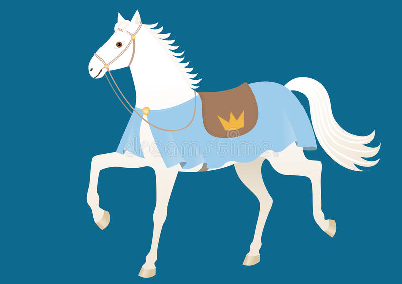 koń królewski ilustracja wektor