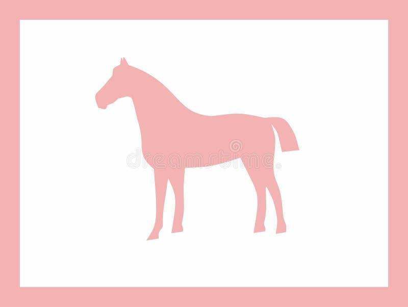 Koń menchii projekt zdjęcia stock