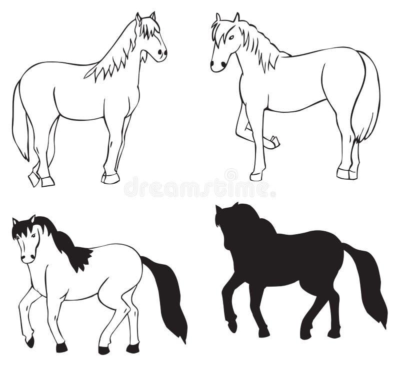 Koń na białym tle ilustracji