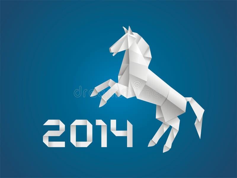 Koń. Nowy rok 2014 royalty ilustracja
