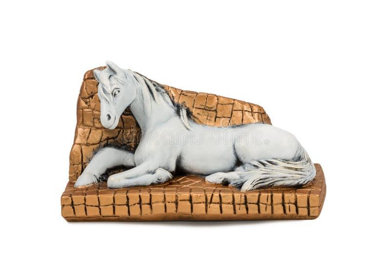 Koń w kramu obraz stock