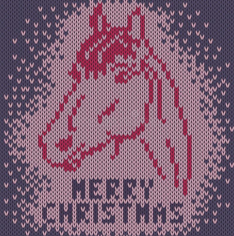 Koń. Wesoło boże narodzenia ilustracji
