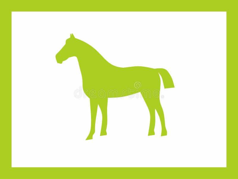 Koń zieleni projekt obrazy royalty free