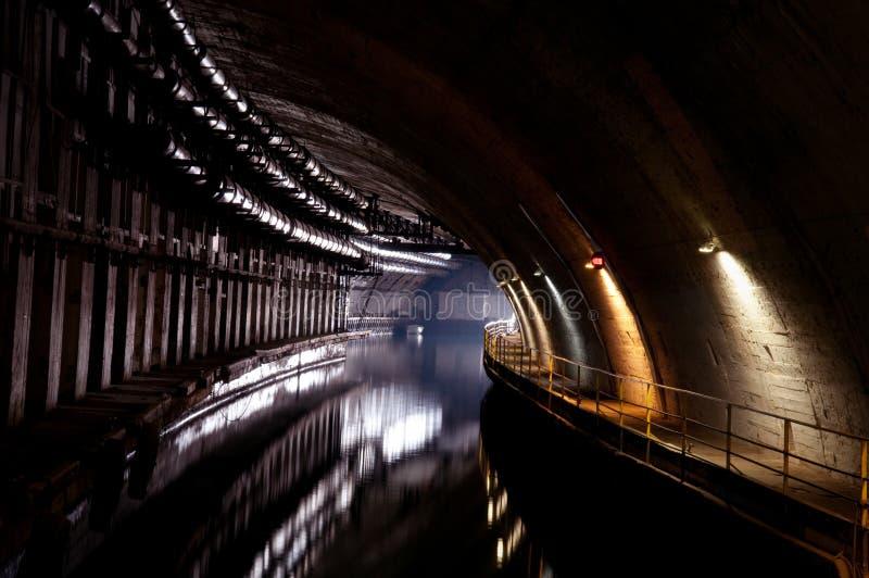 końcówka światła tunel fotografia stock