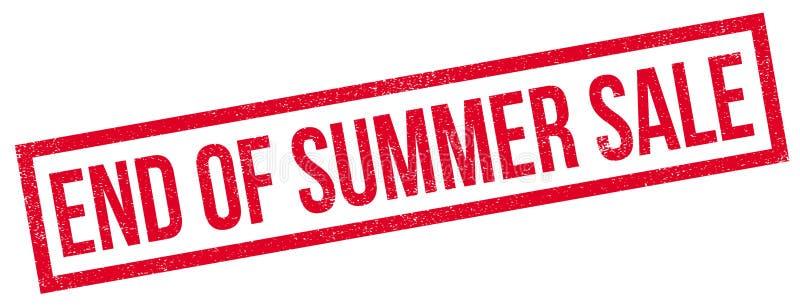 Końcówka lato sprzedaży pieczątka ilustracja wektor