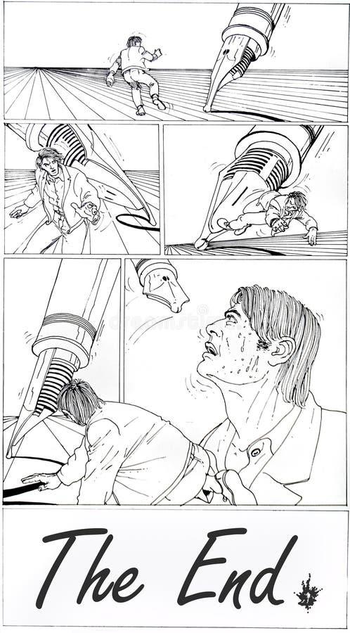 końcówka opowieść royalty ilustracja