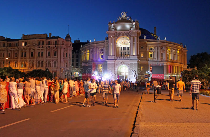 Końcowa ceremonia Odessa Międzynarodowy Ekranowy festiwal w Odessa, Ukraina fotografia royalty free