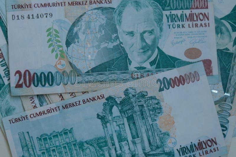 Końcowa stara Tureckiego lira pieniądze notatka zdjęcie royalty free