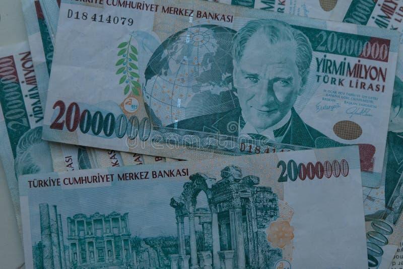 Końcowa stara Tureckiego lira pieniądze notatka obrazy royalty free