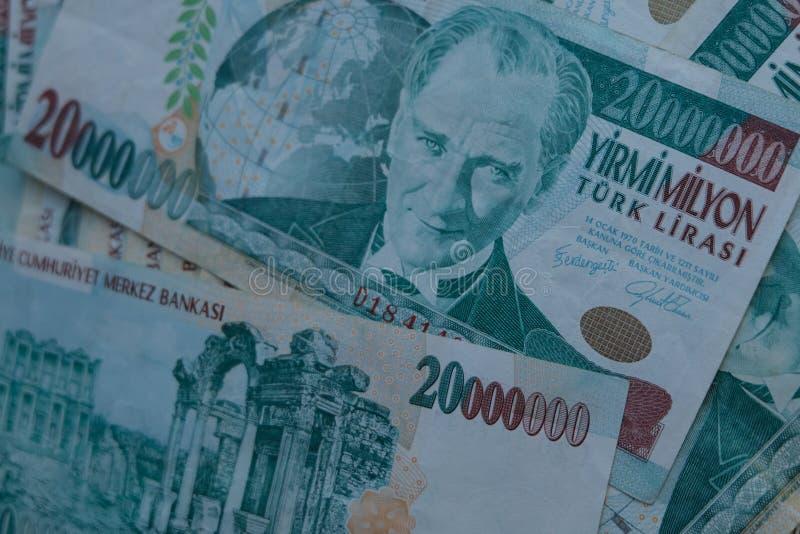 Końcowa stara Tureckiego lira pieniądze notatka fotografia royalty free