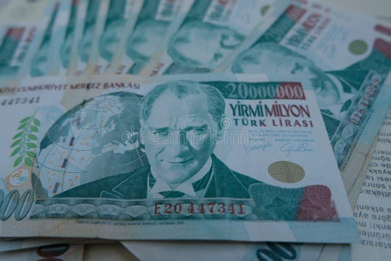 Końcowa stara Tureckiego lira pieniądze notatka zdjęcie stock