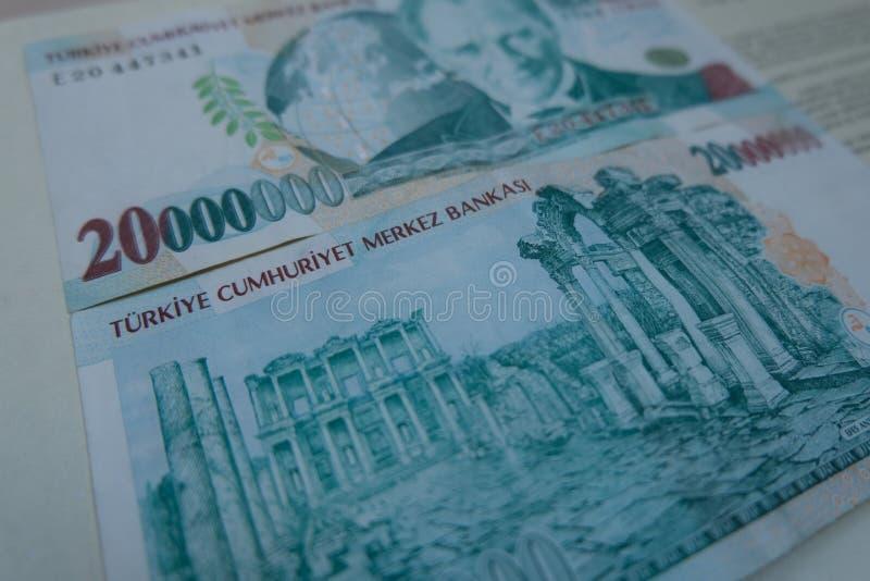 Końcowa stara Tureckiego lira pieniądze notatka obrazy stock