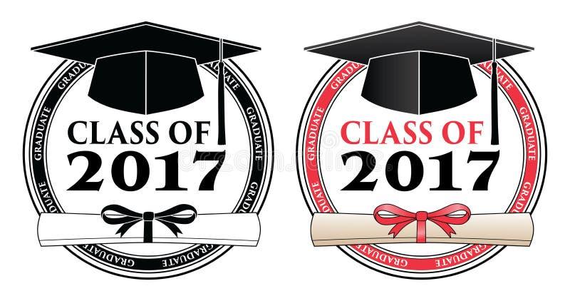 Kończący studia klasę 2017 - wektor royalty ilustracja