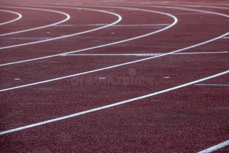 kończy ślad Pusta arena sportowa fotografia royalty free