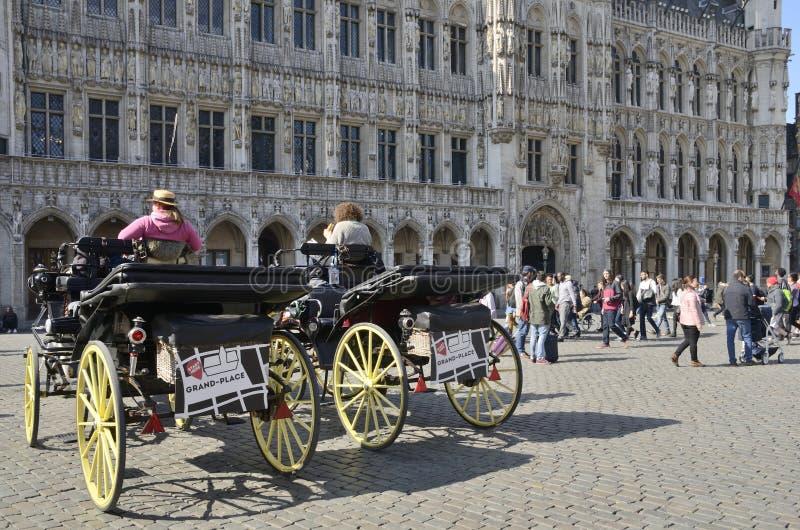 Końscy frachty w Bruksela zdjęcia royalty free
