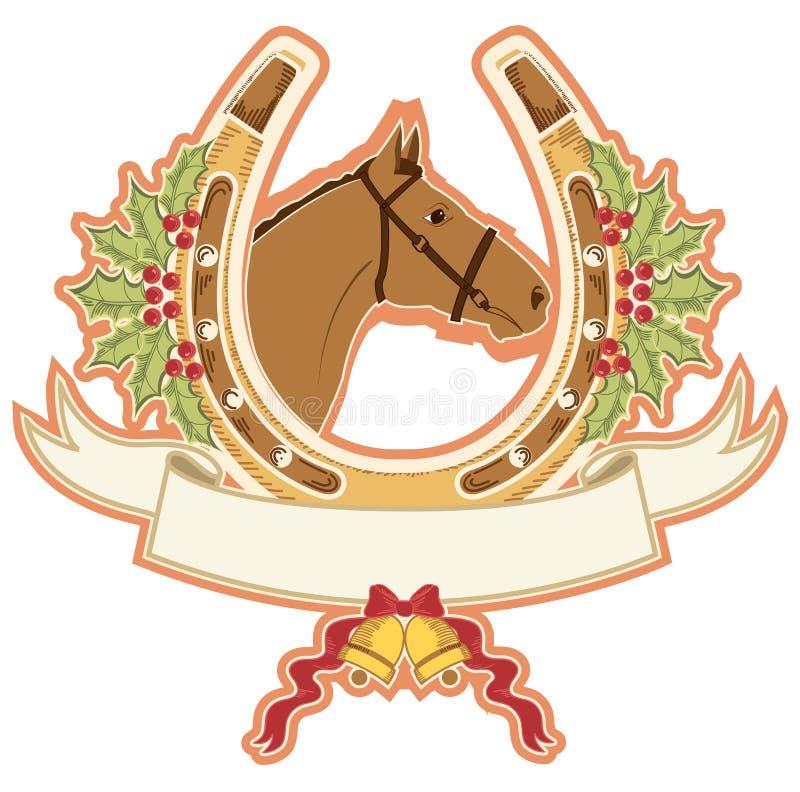 Końscy i końscy boże narodzenia. ilustracji