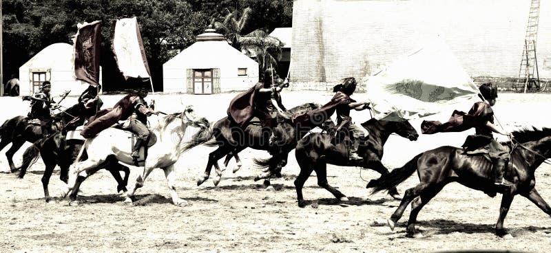 Końscy jeźdzowie zdjęcia stock