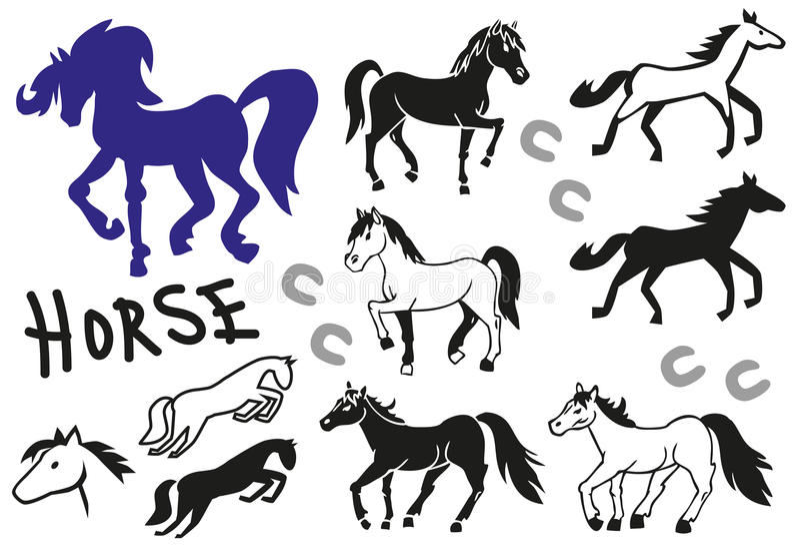 Końscy obrazy i ikony ilustracji