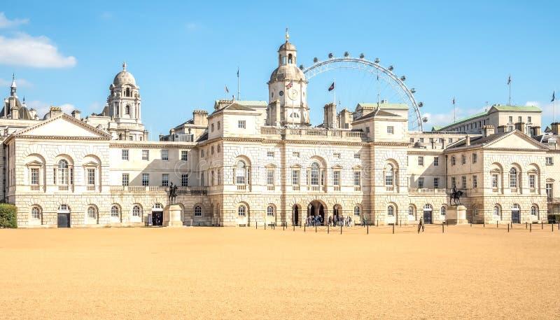 Końscy strażnicy Londyńscy obrazy royalty free