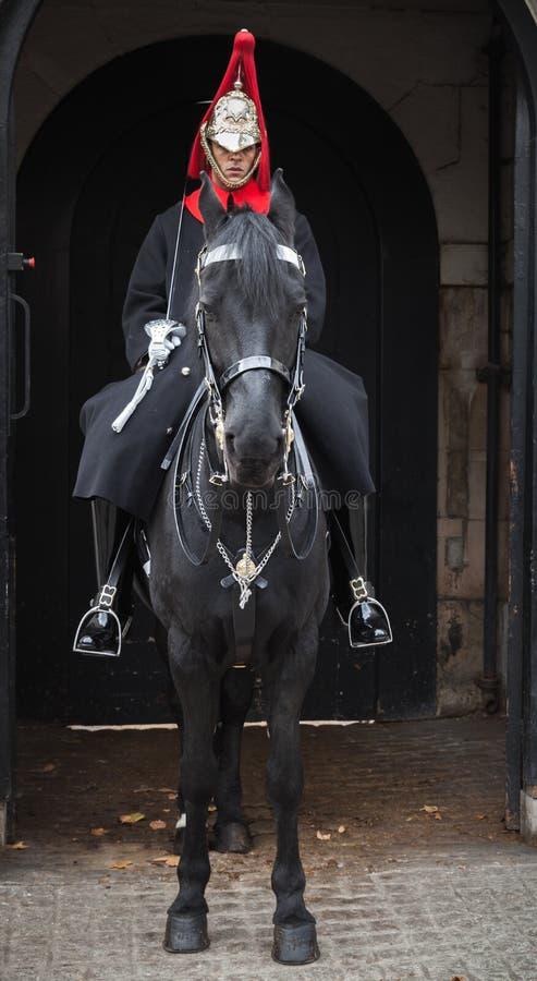 Końscy strażnicy Whitehall w Londyn zdjęcie stock