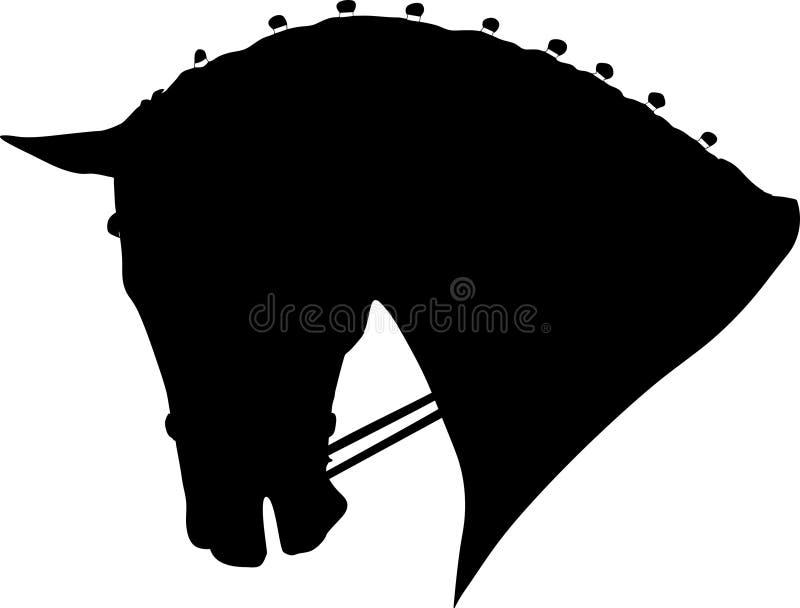 Końska Dressage głowa ilustracja wektor