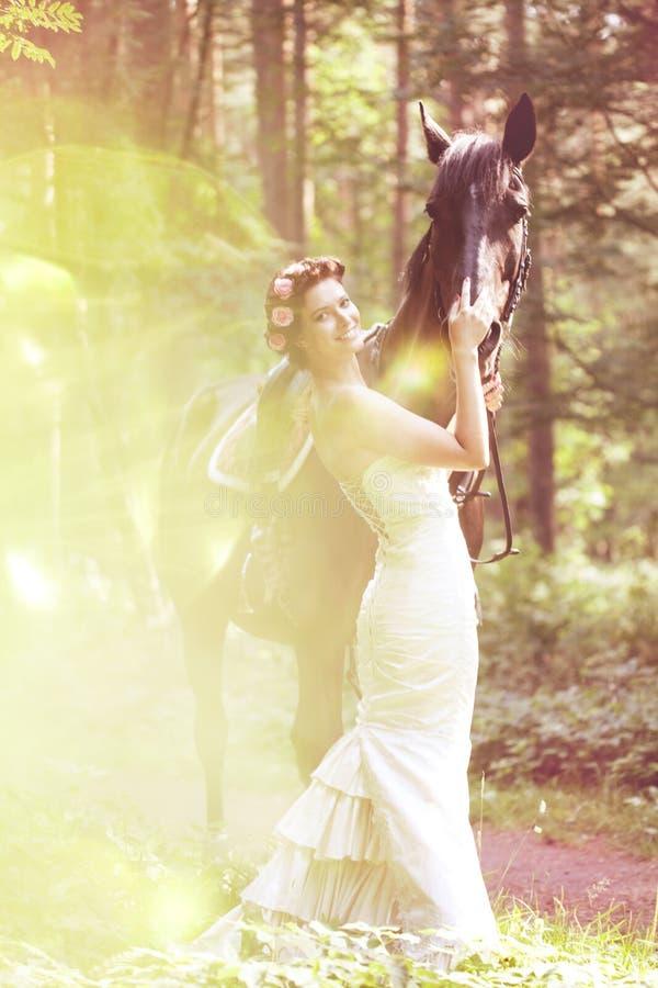 końska kobieta zdjęcia stock