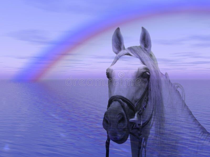 końska rainbow ilustracji