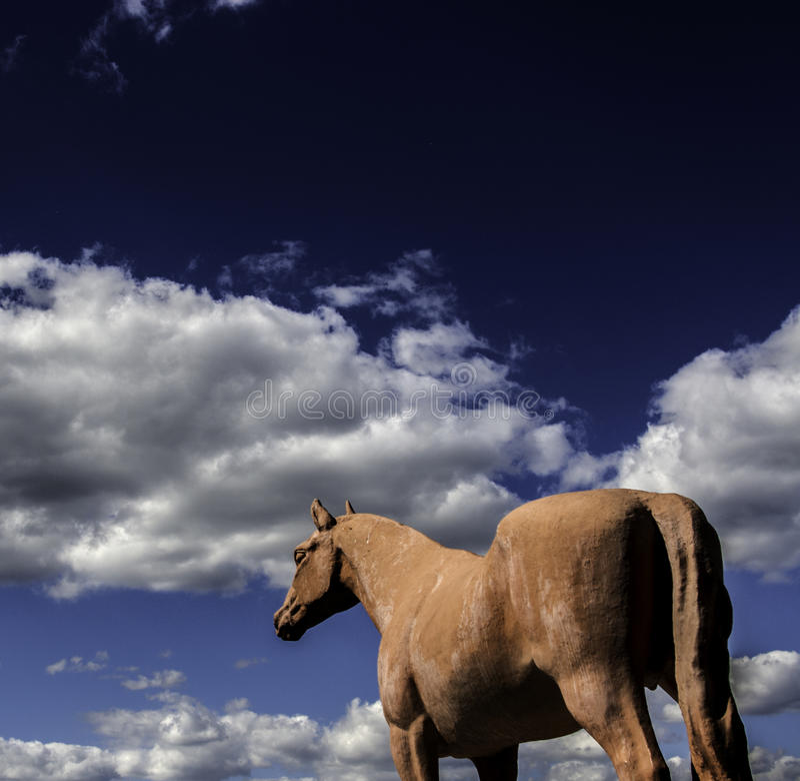 Końska rzeźba zdjęcie royalty free