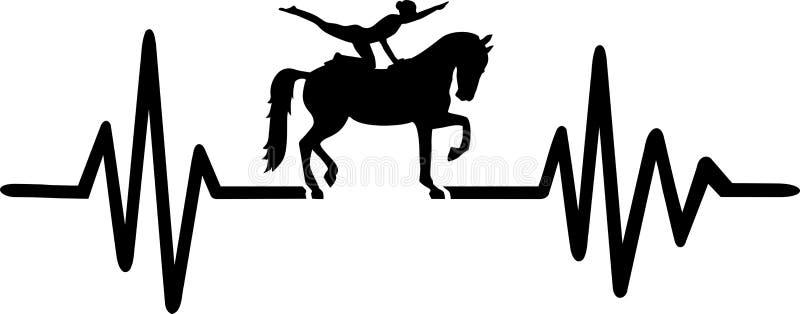 Końska sklepia bicie serca linia ilustracja wektor