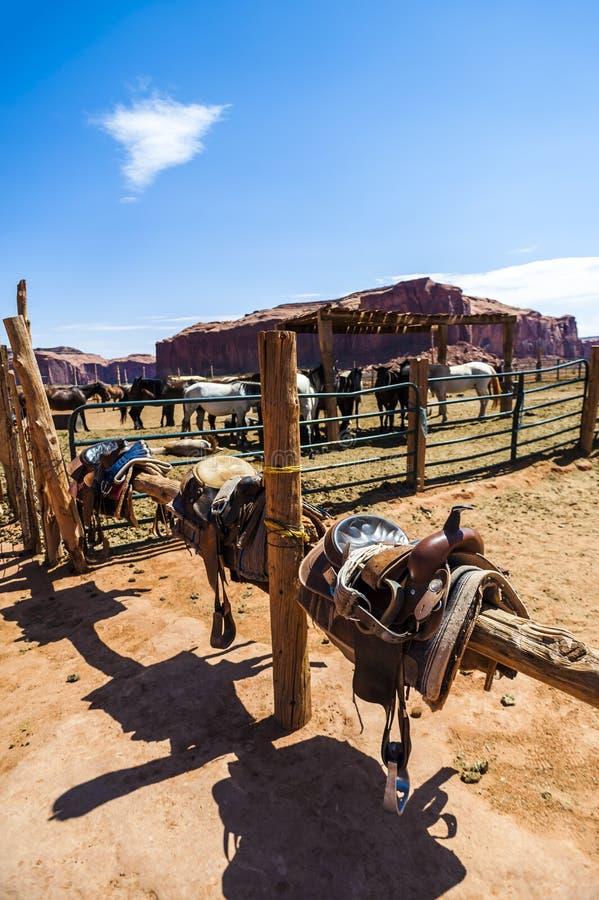 Końska stajenka Pomnikowa dolina, Utah obrazy royalty free