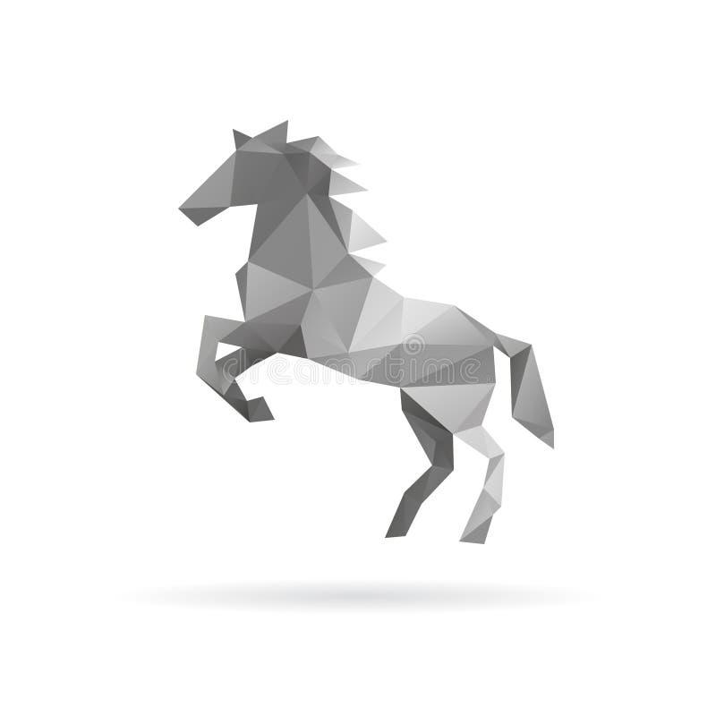 Koński abstrakt na biali tła ilustracji