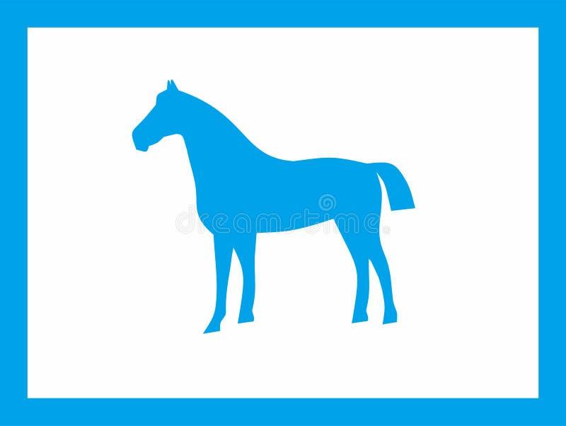 Koński Błękitny projekt zdjęcie stock