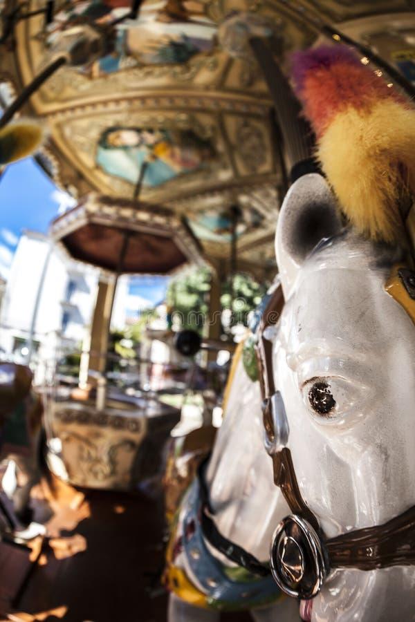 Koński carousel obraz stock
