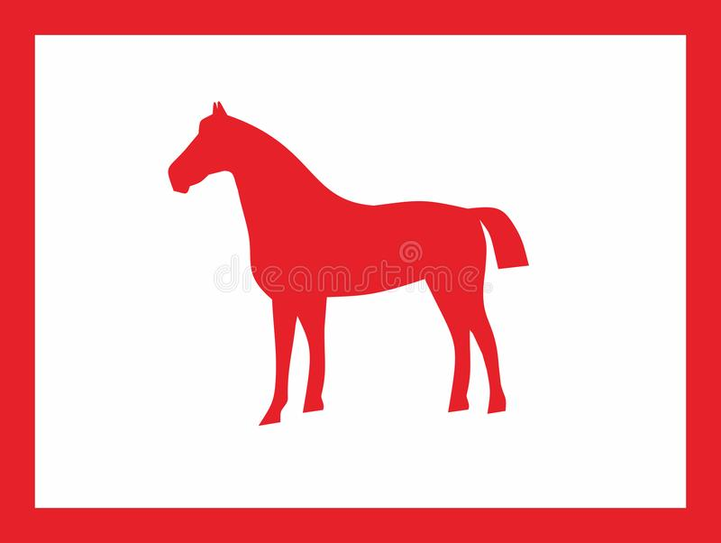 Koński Czerwony projekt obraz stock
