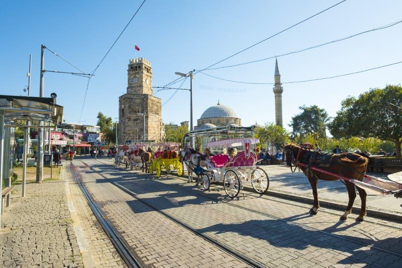 Koński Kareciany Tekeli Mehmet Pas Meczetowy Antalya H zdjęcia royalty free