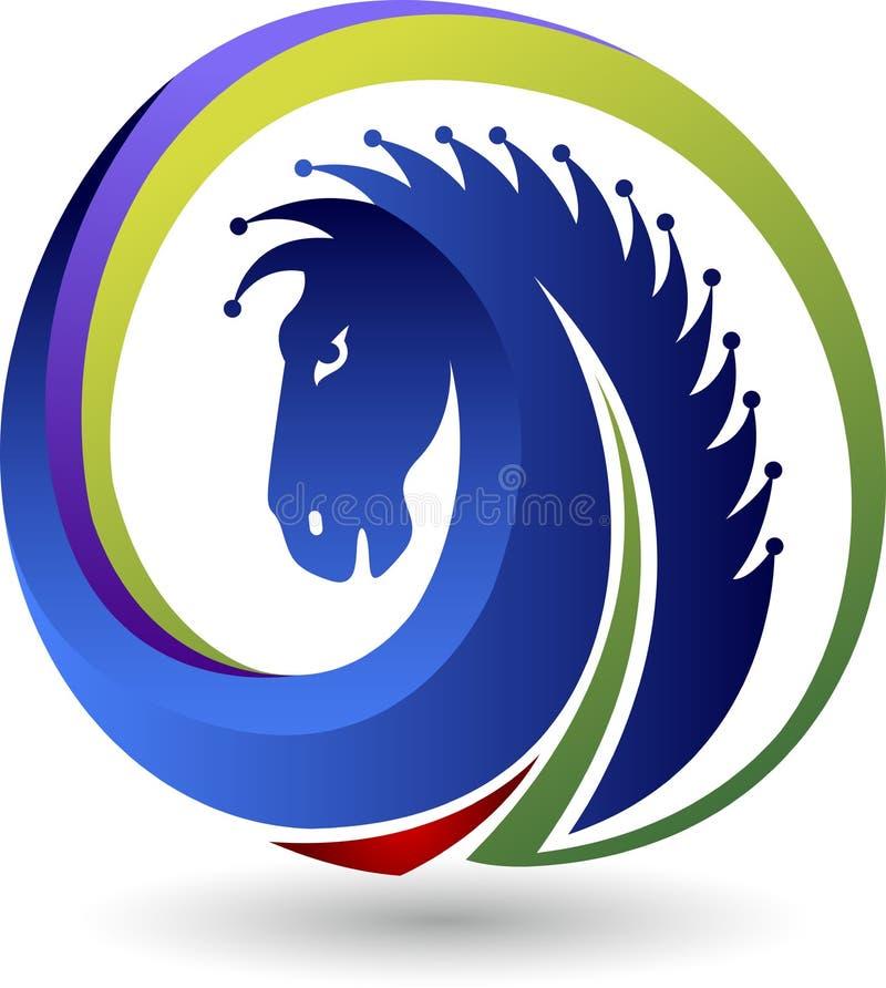 Koński logo ilustracja wektor