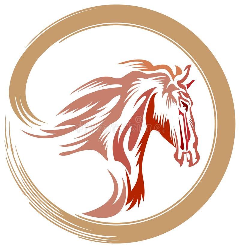 Koński logo royalty ilustracja
