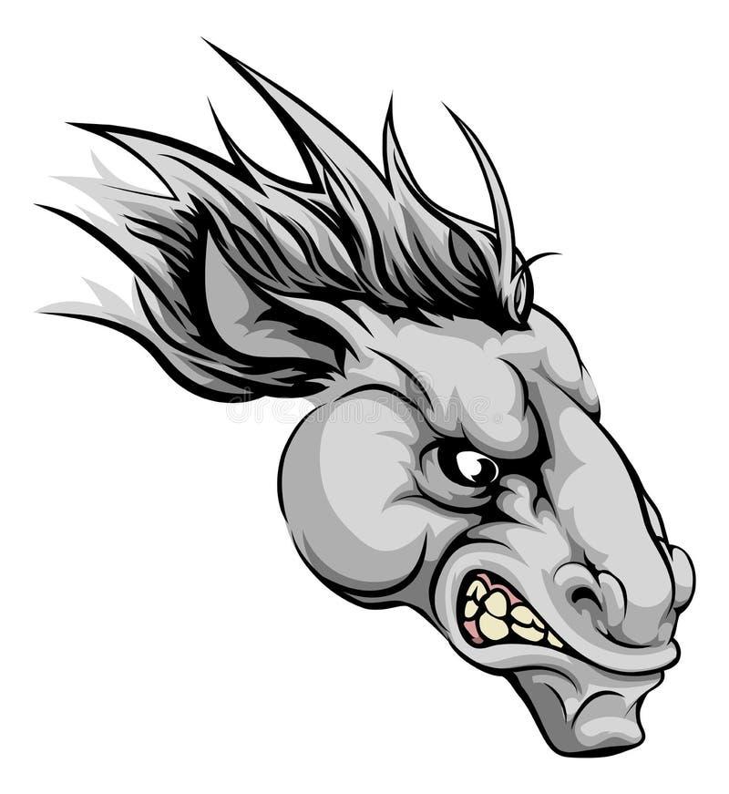 Koński maskotka charakter ilustracji