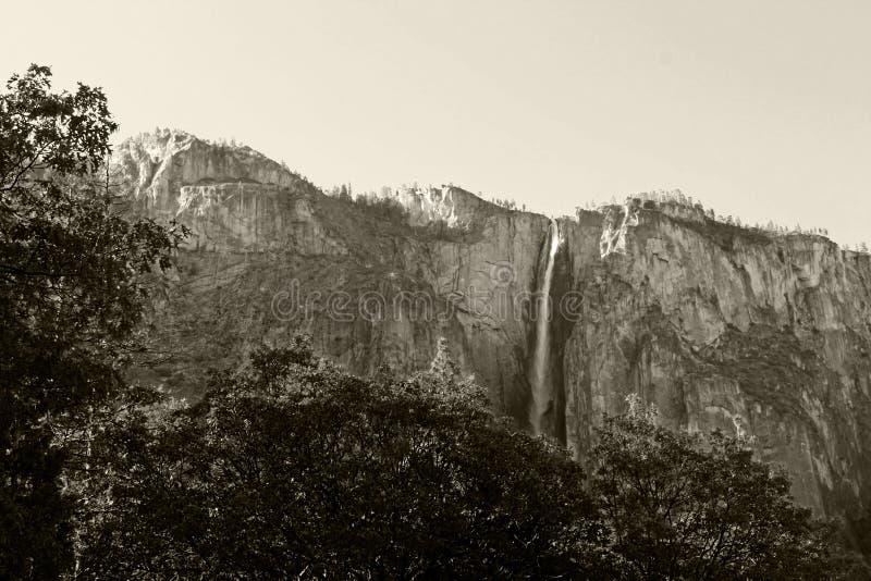 Koński ogonu spadek, Yosemite, Yosemite park narodowy zdjęcia royalty free