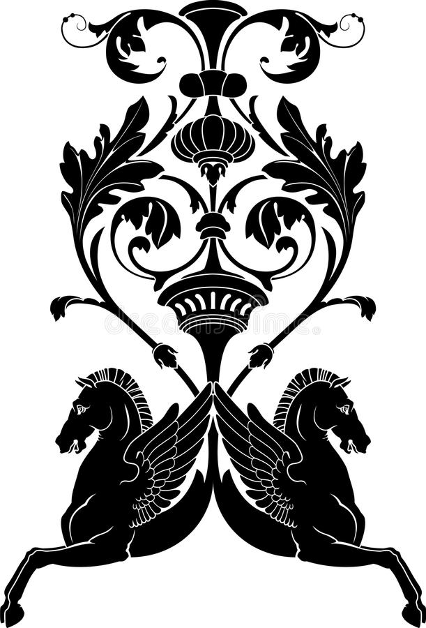 koński ornamental ilustracji