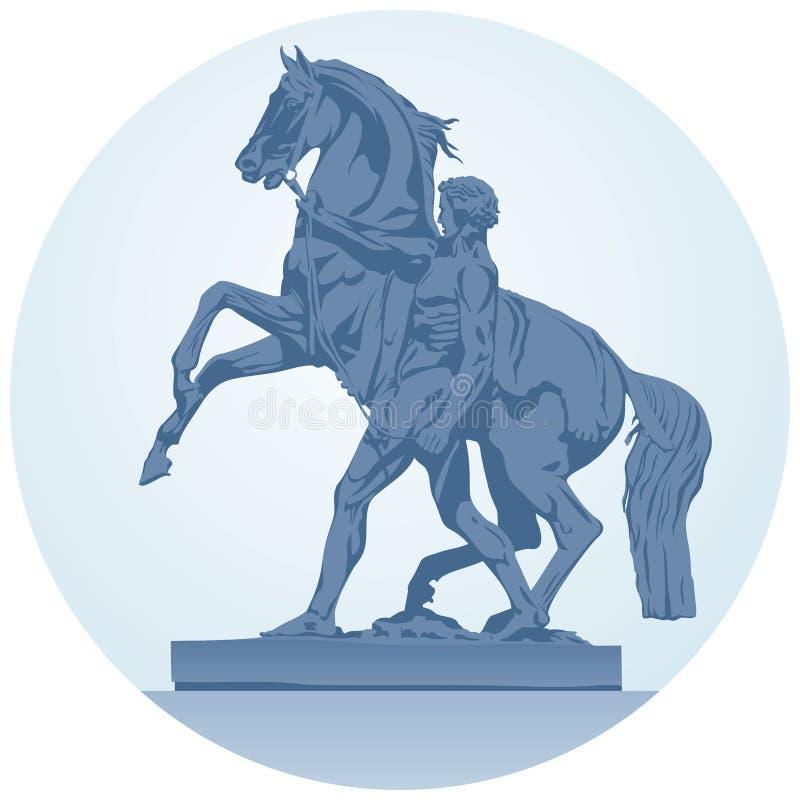 koński Petersburg rzeźby st royalty ilustracja