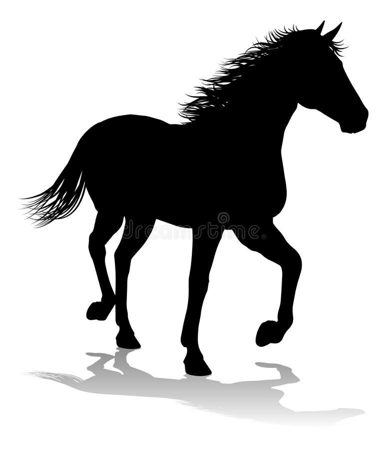 Koński sylwetki zwierzę royalty ilustracja
