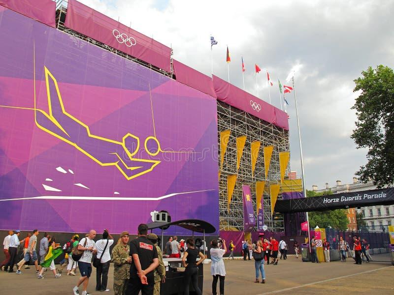 Końskich strażników parada, olimpia 2012 obraz stock