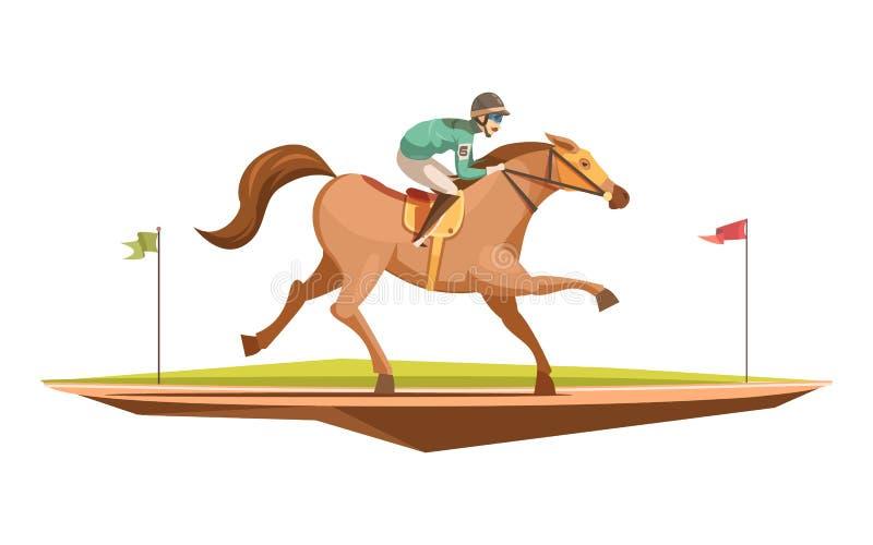 Końskiej jazdy projekta Retro pojęcie royalty ilustracja