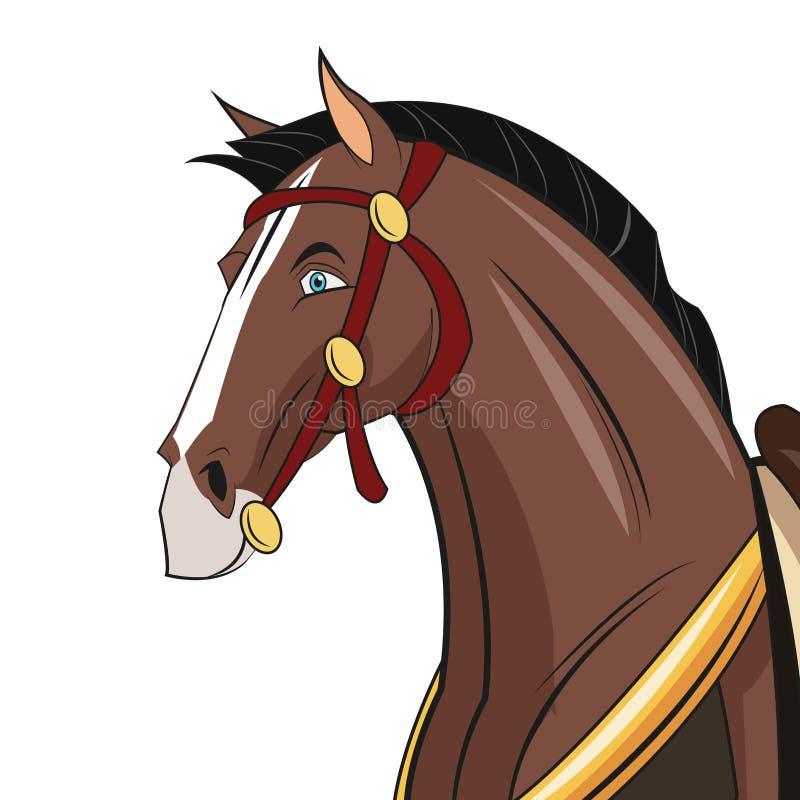Końskiej kreskówki zwierzęcy projekt royalty ilustracja