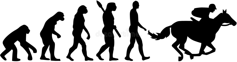 Końskiej rasy ewolucja ilustracja wektor